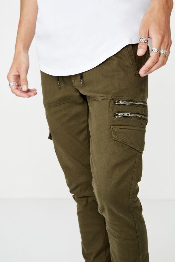 Zipt Utility Pant, GREEN PEAT