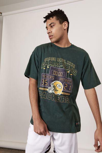 Oversized Nfl T Shirt, LCN NFL WASHED PINENEEDLE/PACKERS SUPER BOWL