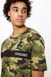 Camo Spliced T Shirt, CAMO/ NO VACANCY