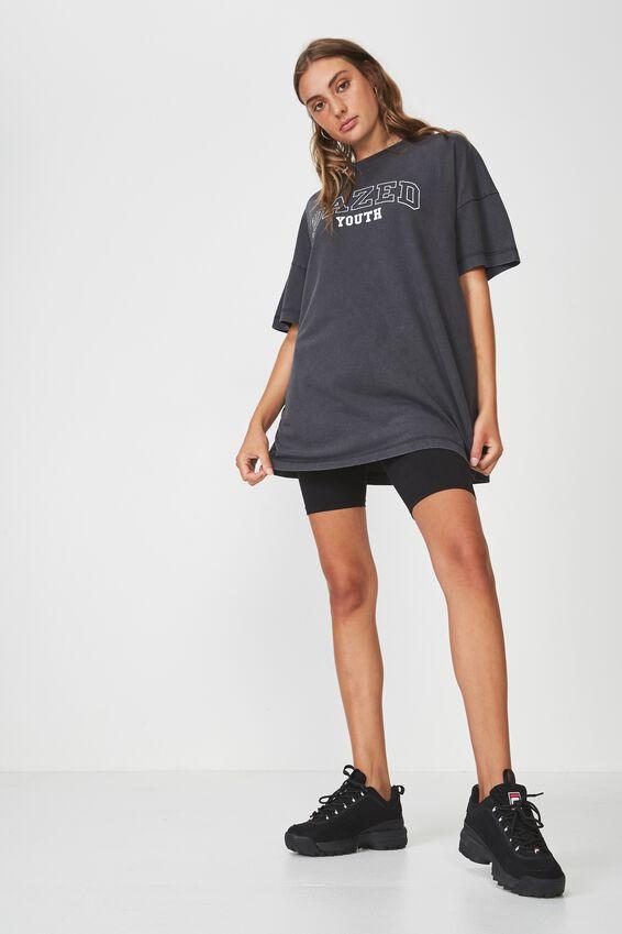 Washed Graphic T Shirt, BLACK_DAZED