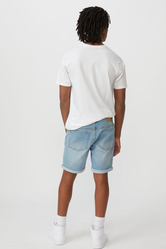 Slim Cut Denim Short, CALI BLUE