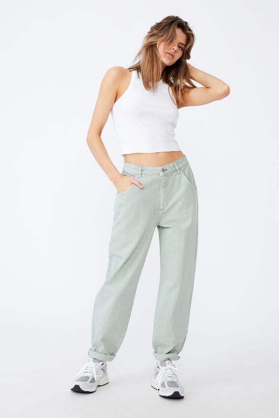 Slouchy Jean, SAGE GREEN