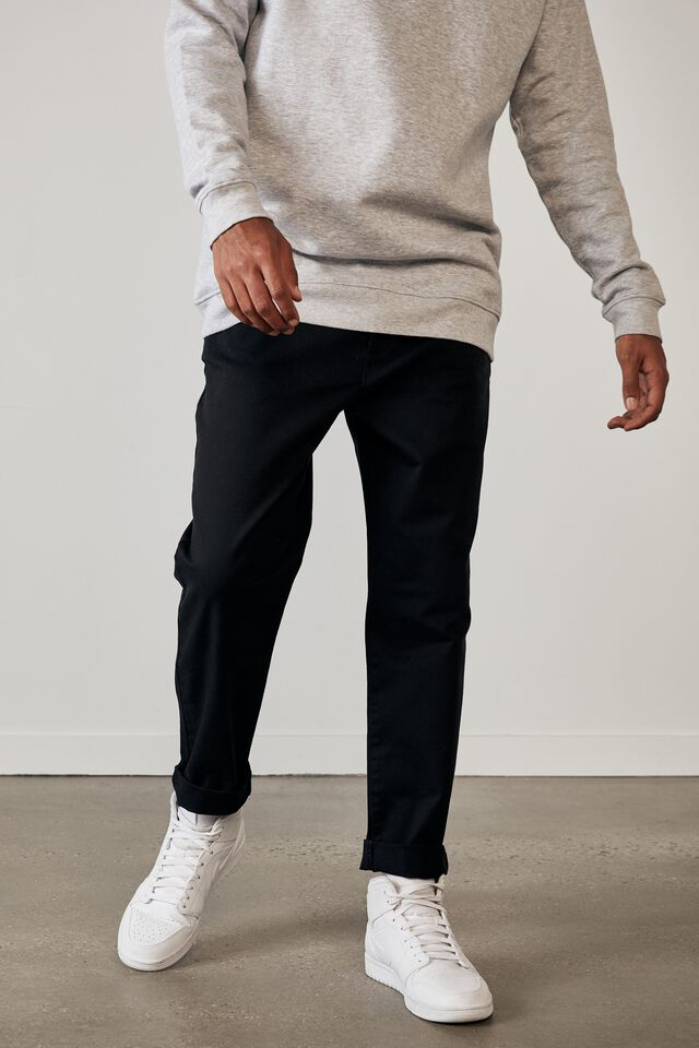 Relaxed Fit Chino, BLACK