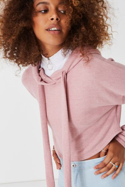 So Soft Crop Hoodie, SO SOFT WASHED LILAS