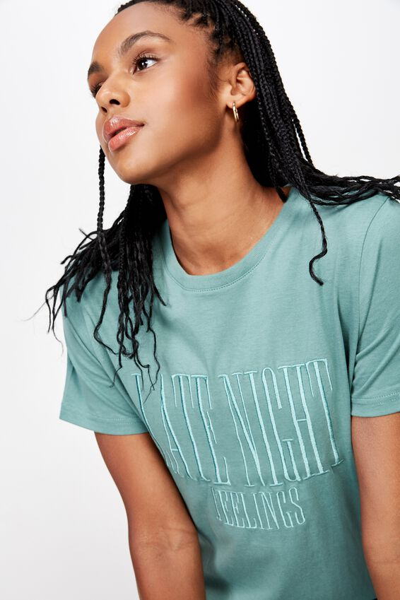 Relaxed Graphic T Shirt, FOREST KHAKI/LATE NIGHT FEELINGS
