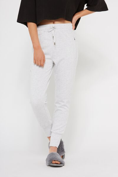 Skinny Fit Trackpant 3, WHITE MARLE