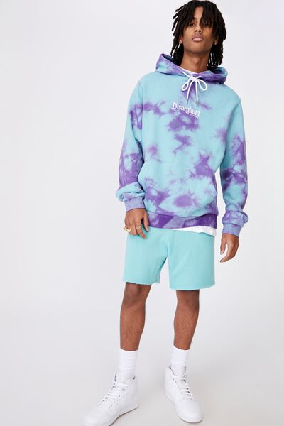 Disney License Hoodie, LCN DIS COOL MINT PURPLE TIE DYE/DISNEYLAND