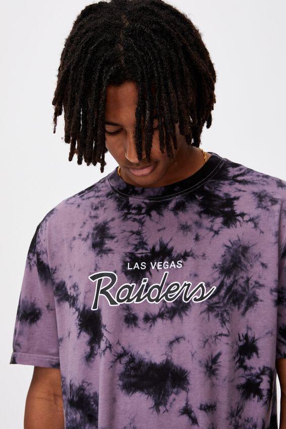Regular Nfl T Shirt, LCN NFL PURPLE TIE DYE/RAIDERS