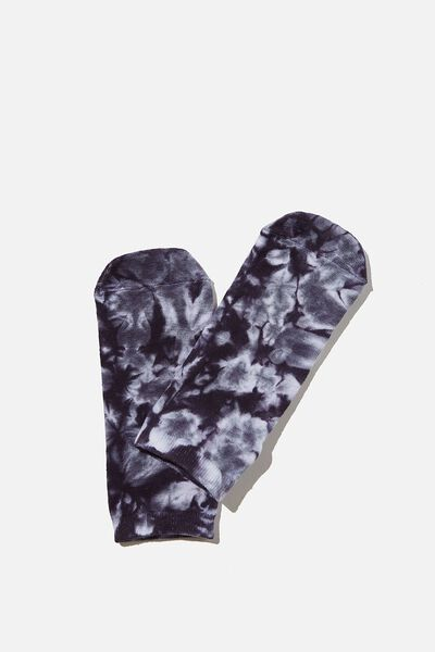 Anklet Original Sock, TIE DYE WHITE & ASPHALT