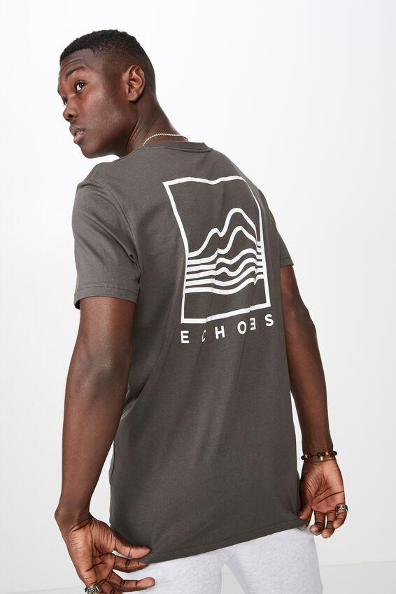 Slim Graphic T Shirt, GRAPHITE/ECHOES