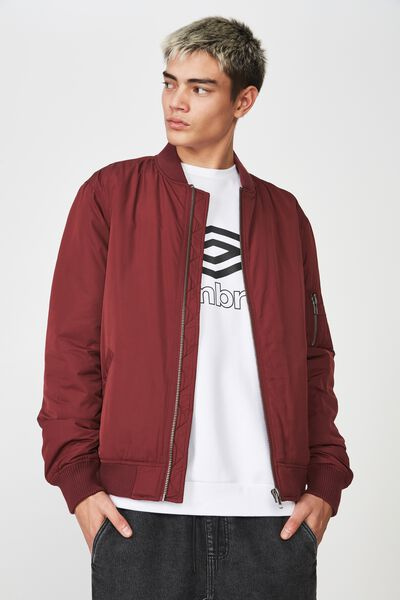 Bomber Jacket, BURGUNDY