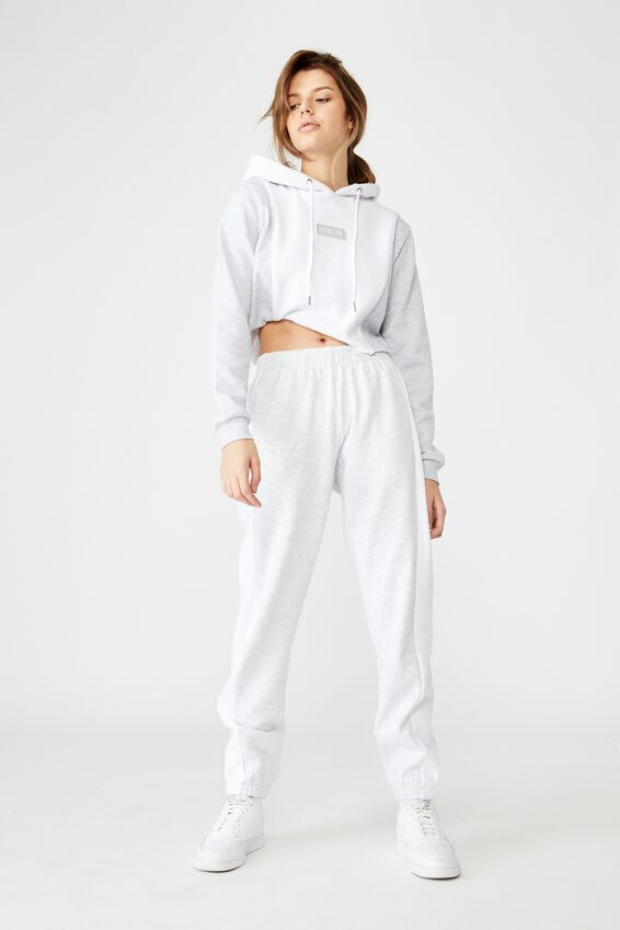 Graphic Trackpant, SILVER MARLE/BROOKLYN