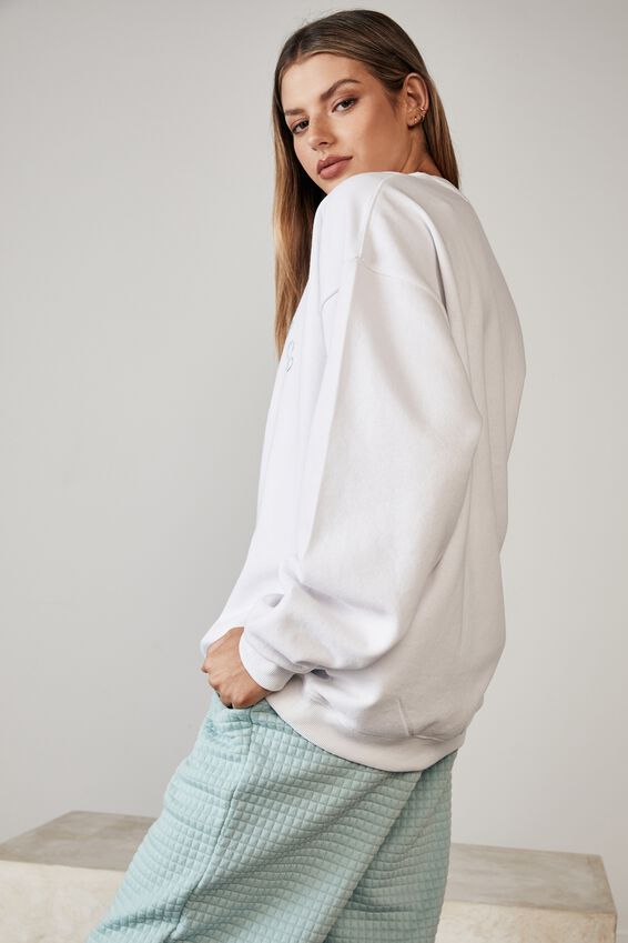 Oversized Graphic Crew, WHITE/ATHLEISURE CLUB CO