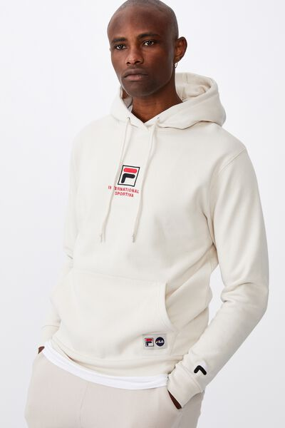 Fila Lcn Embroidered Hoodie, IVORY/SPORT