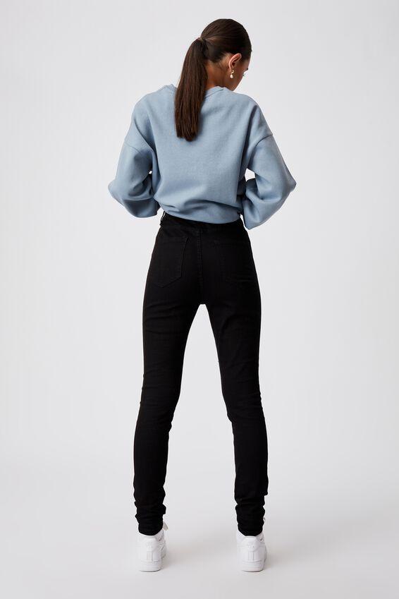 The Skinny High Rise Jean, BLACK