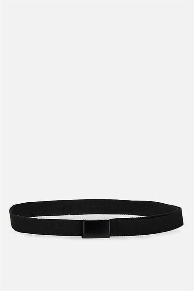 Canvas Web Belt, BLACK