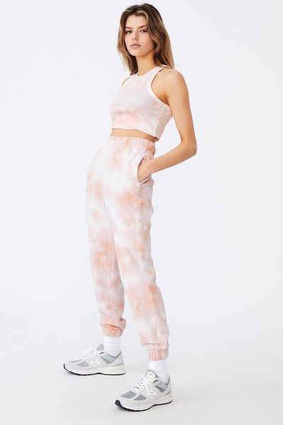 Super High Rise Trackpant, RUGBY TAN TIE DYE