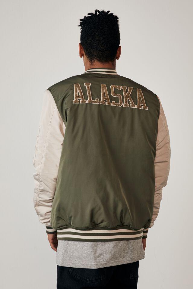 Ma1 Bomber Jacket, KHAKI/ALASKA