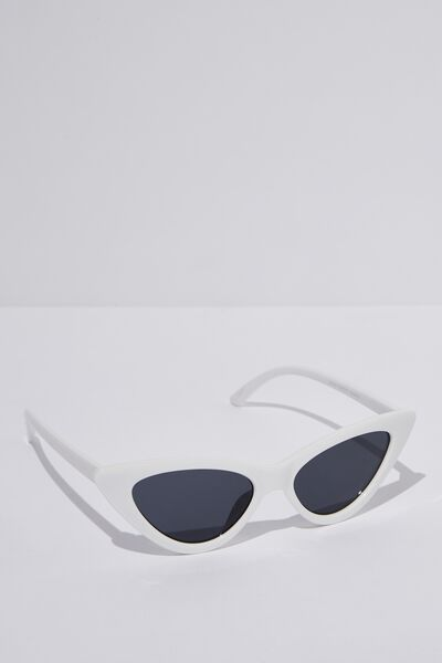 Zarah Cateye Sunglasses, WHITE_SMK