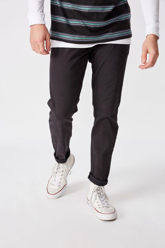 Washed Slim Leg Pant, WASHED BLACK