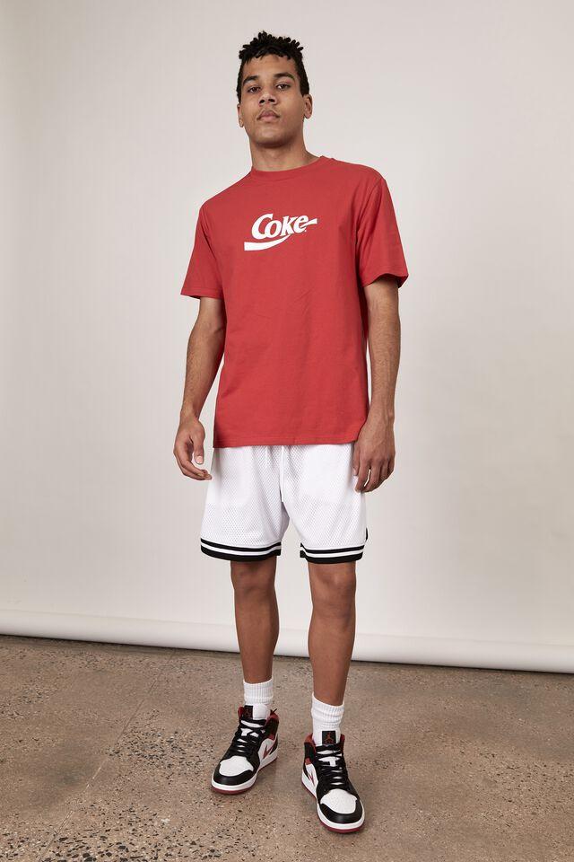 Basketball Short, WHITE/JACQUARD HEM