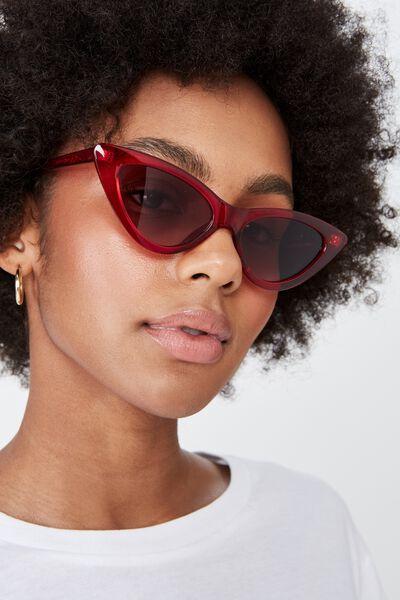 Zarah Cateye Sunglasses, S CRY B'BERRY_GRAD SMK