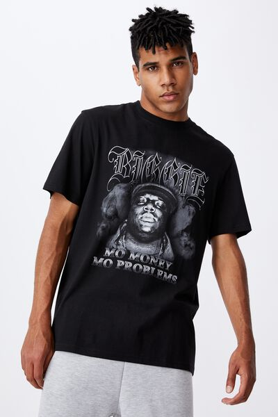 Regular Music Merch T Shirt, LCN MT BLACK/BIGGIE SMOKE
