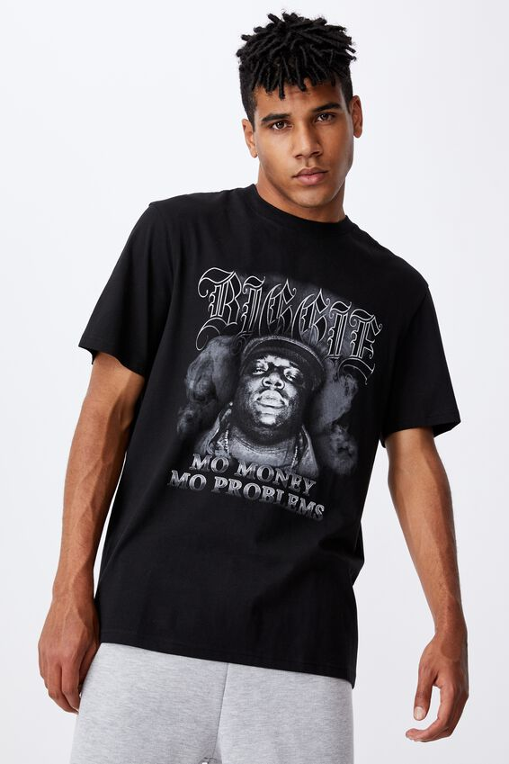 Regular Music Merch T Shirt, LCN MT BLACK/BIGGIE SMOKE