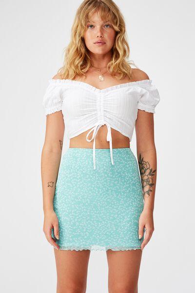 Mesh Skirt, AQUA HAZE/KIARA