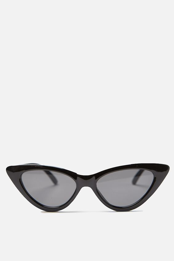 Zarah Cateye Sunglasses, BLACK_SMK