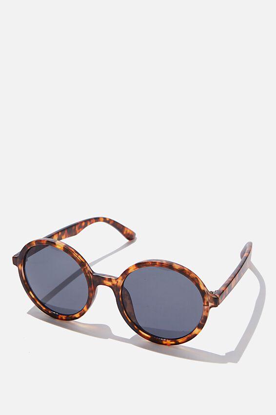 Millenium Round Sunglasses, TORT