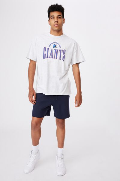 Lcn Super Relaxed Nfl Graphic Tee, LCN NFL SILVER MARLE/NY GIANTS