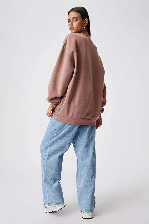 Oversized Graphic Crew, DIRTY BLUSH/MONTREUX
