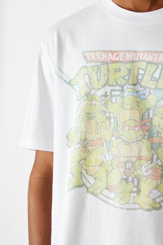 Regular License T Shirt, WHITE TMNT