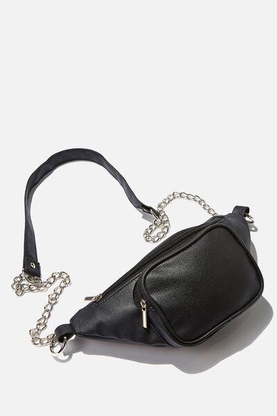 Cross Body Pu Bag, BLACK