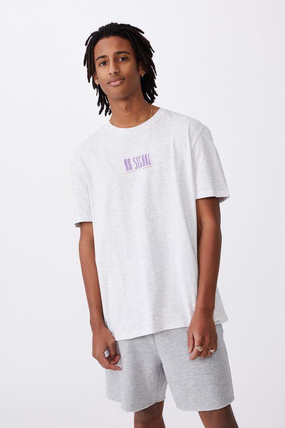 Regular Graphic T Shirt, SILVER MARLE/NO SIGNAL