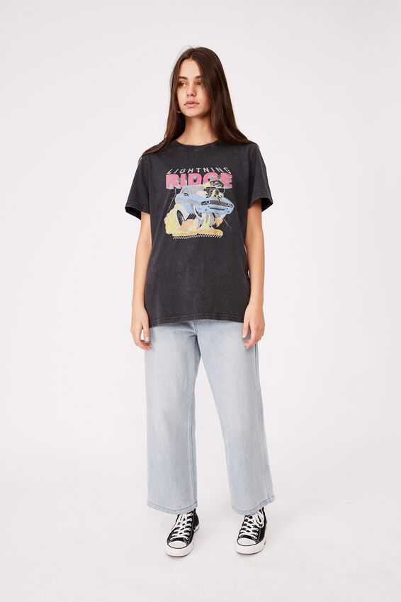 Relaxed Graphic T Shirt, WASHED BLACK/LIGHTNING RIDGE