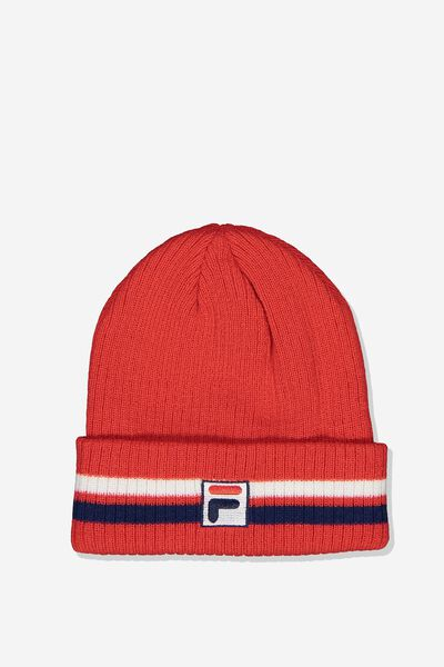 Fila Lcn Multi Stripe Beanie, RED_MULTI STRIPE