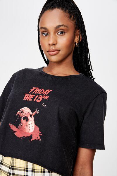 Lcn Raw Edge Graphic T Shirt, BLACK/FRIDAY 13TH