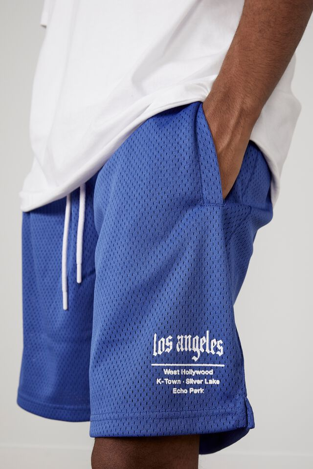 Graphic Basketball Short, BLUE/LA