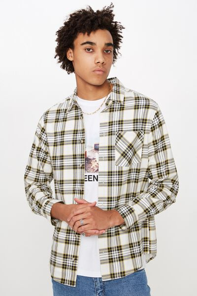 Long Sleeve Check Shirt, FOG CHECK