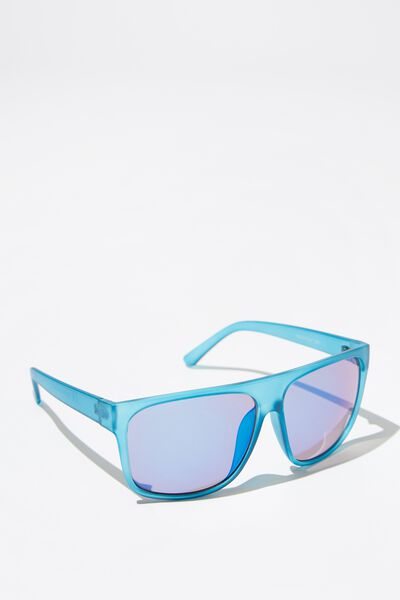 Revo Flat Top Sunglasses, M.BLUE_BLU REVO
