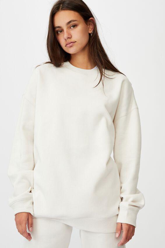 Oversized Crew Neck Sweater, IVORY