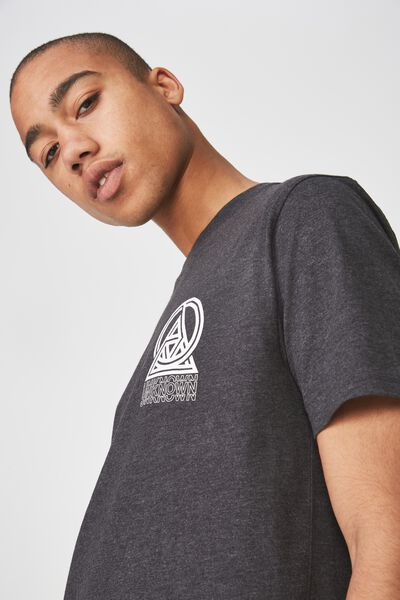 Graphic T Shirt, CHARCOAL MARLE/UNKNOWN
