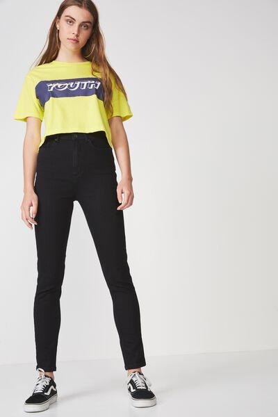 The High-Rise Skinny Jean, BLACK
