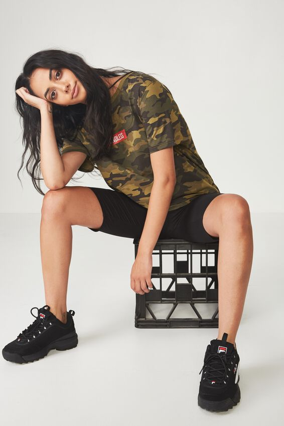 Relaxed Graphic T Shirt, CAMO_BOXED ENDLESS