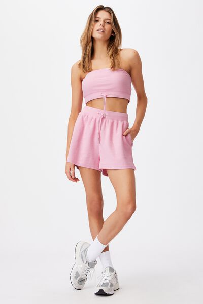Reverse Fleece Short, BABE PINK