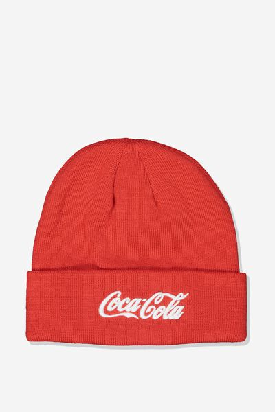 Lcn Coca Cola Beanie, RED_WHITE