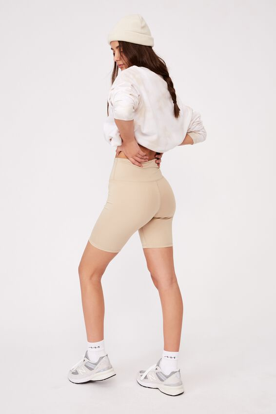 High Waisted Elevated Bike Short, HUMUS