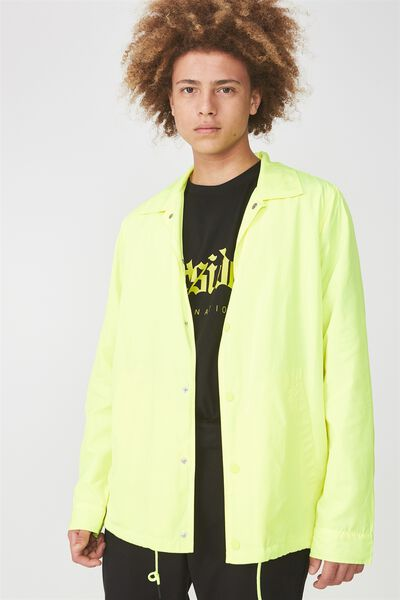 Coaches Jacket, HAZARD YELLOW